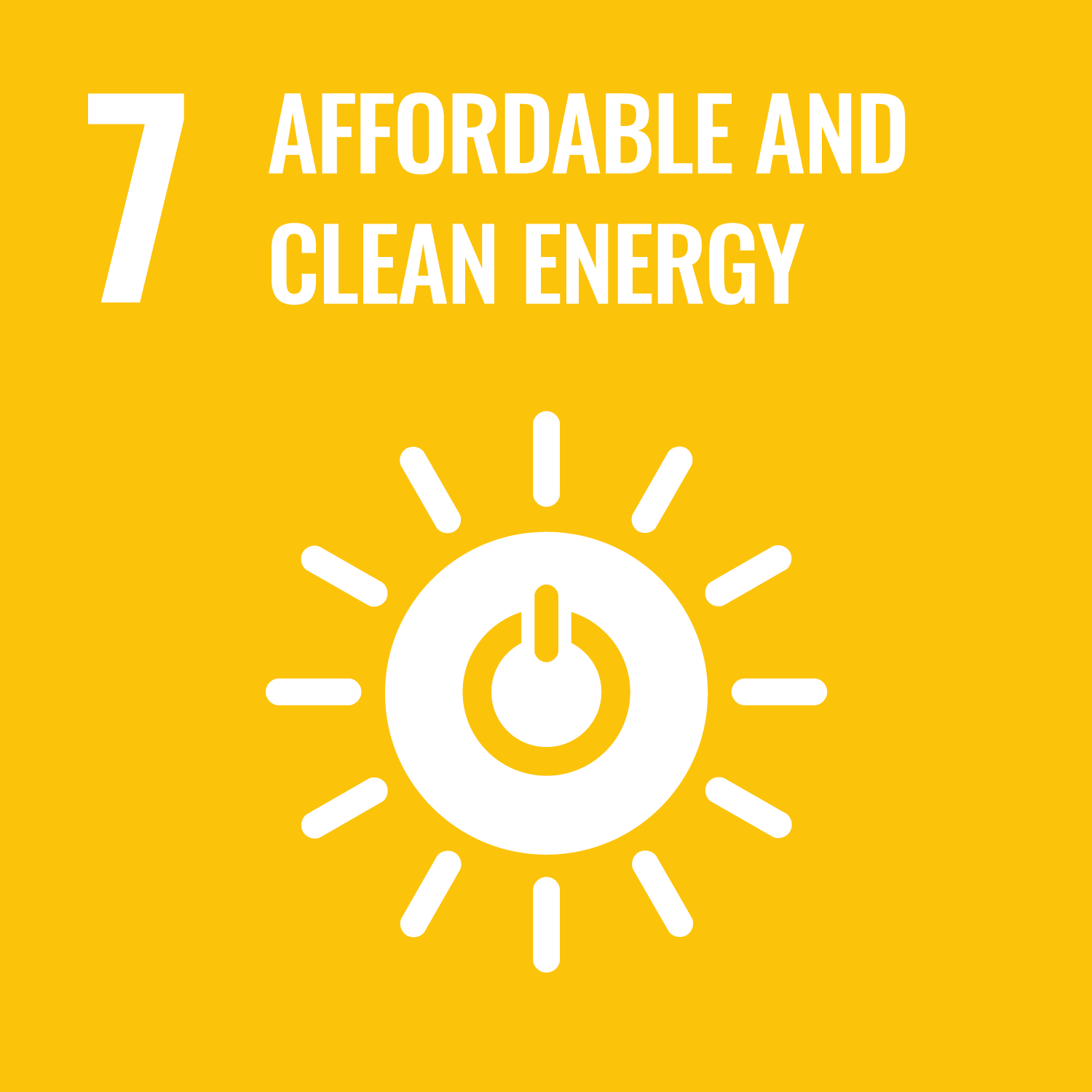 Sustainable Development Goals – Affordable and clean energy